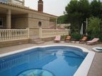 Spanish property for sale in: Sitges the surrounding hills. Mas Mestre: Luxurious high quality villa with great flat garden.