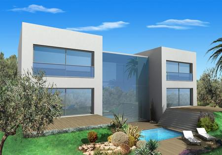 Spanish property for sale in: Sitges the surrounding hills. Modern villas under construction  located at just 10 minutes from Sitges with great mountain views!